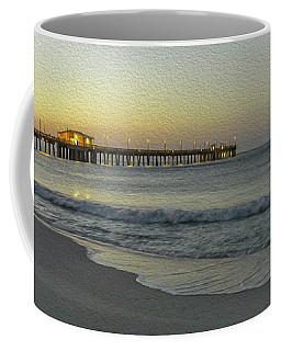 Gulf Shores Alabama Fishing Pier Digital Painting A82518 Coffee Mug