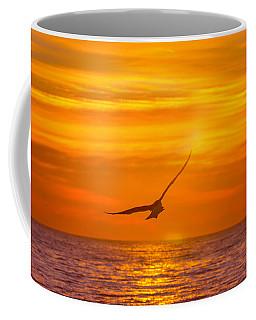 Gull At Sunrise Coffee Mug by Allan Levin