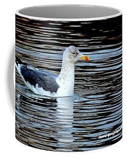 Gull On Winter's Pond  Coffee Mug