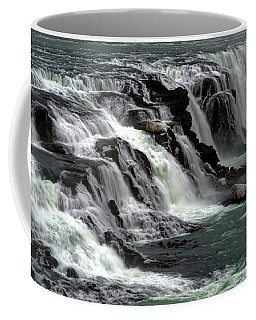 Gullfoss Waterfalls, Iceland Coffee Mug by Dubi Roman