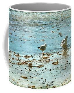 Gulls On The Edge Coffee Mug