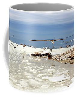 Gulls Skating At Long Beach Island Coffee Mug