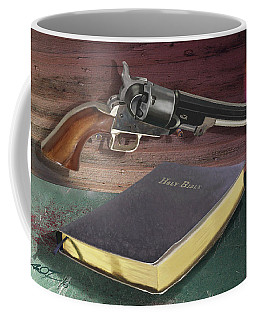 Gun And Bibles Coffee Mug
