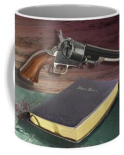 Gun And Bibles Coffee Mug