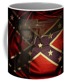 Gun And Flag Coffee Mug