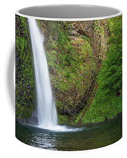 Coffee Mug featuring the photograph Gushing Horsetail Falls by Greg Nyquist
