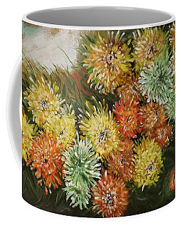 Gusty Chrysanthemums Coffee Mug