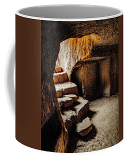 Coffee Mug featuring the photograph Guzelyurt, Turkey - Underground Steps by Mark Forte