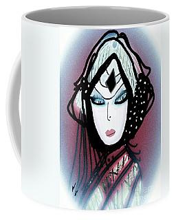 Coffee Mug featuring the mixed media Gypsie by Ann Calvo