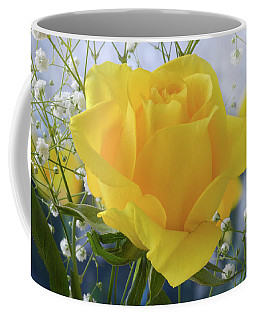 Coffee Mug featuring the photograph Gypsophila And The Rose. by Terence Davis