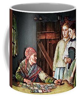 Coffee Mug featuring the digital art Gypsy Card Reader by Pennie McCracken