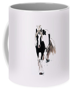Coffee Mug featuring the painting Gypsy Vanner by Isabella F Abbie Shores FRSA