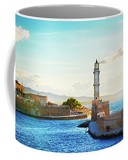Habour And Lighthouse Of Chania Coffee Mug