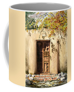 Coffee Mug featuring the painting Hacienda Gate by Sam Sidders