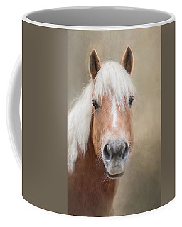Coffee Mug featuring the photograph Haflinger by Robin-Lee Vieira