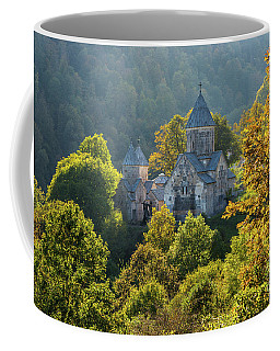 Haghartsin Monastery With Trees In Front At Autumn, Armenia Coffee Mug