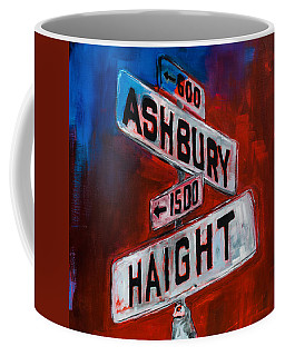 Coffee Mug featuring the painting Haight And Ashbury by Elise Palmigiani