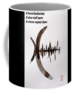 Coffee Mug featuring the painting Haiku Painting And Painting by Roberto Prusso