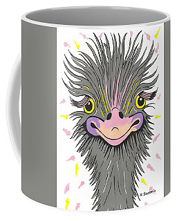 Hair Raising Day - Contemporary Ostrich Art Coffee Mug