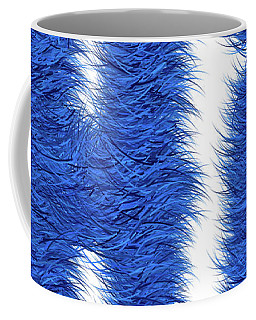 Hairy Blue Hi Coffee Mug by Genevieve Esson