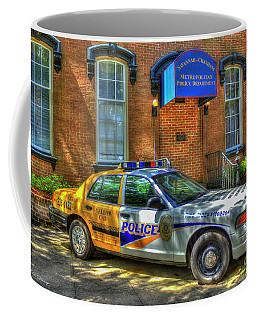 Coffee Mug featuring the photograph Half And Half What Is It Manna Savannah Georgia Police Art by Reid Callaway