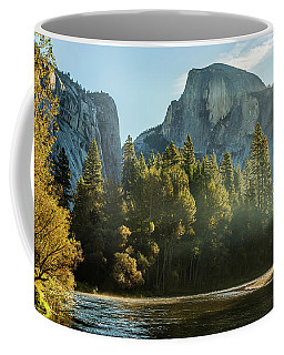 Half Dome And Merced River Autumn Sunrise Coffee Mug