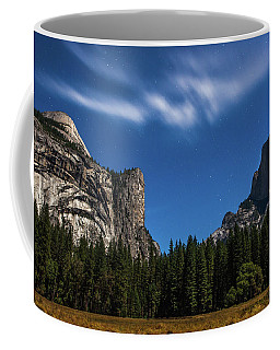 Half Dome And Moonlight - Yosemite Coffee Mug