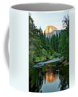 Half Dome Warmed By Setting Sun Coffee Mug