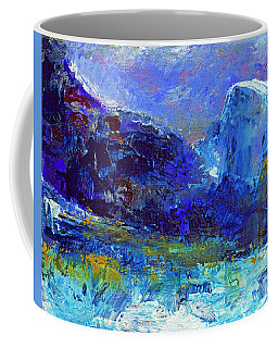 Half Dome Winter Coffee Mug by Walter Fahmy