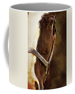 Half Face Horse Portrait Coffee Mug