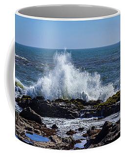 Wave Crashing On California Coast 1 Coffee Mug