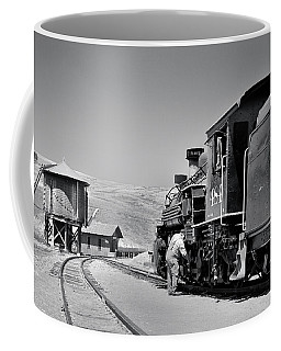 Coffee Mug featuring the photograph Half Way by Ron Cline
