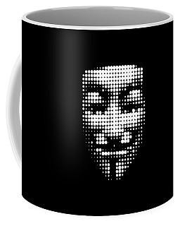 Halftone Anonymous Face  Coffee Mug