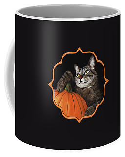 Halloween Cat Coffee Mug by Anastasiya Malakhova
