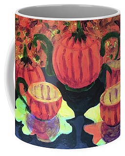 Coffee Mug featuring the painting Halloween Holidays by Donald J Ryker III