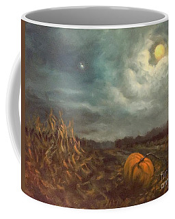 Halloween Mystery Under A Star And The Moon Coffee Mug by Randy Burns