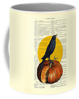 Halloween Pumpkin And Crow Decoration Coffee Mug
