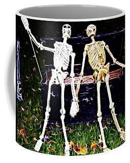 Halloween Skeleton Couple Coffee Mug