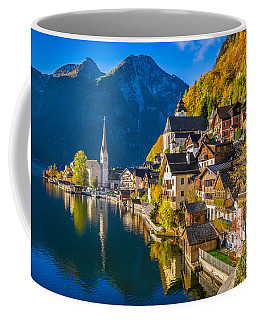 Hallstatt In Fall Coffee Mug