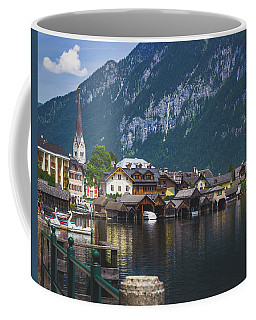 Hallstatt Lakeside Village In Austria Coffee Mug
