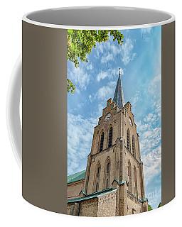 Coffee Mug featuring the photograph Halmstad Church In Sweden by Antony McAulay