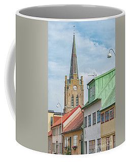 Coffee Mug featuring the photograph Halmstad Street Scene by Antony McAulay