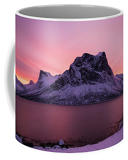 Coffee Mug featuring the photograph Halo In Pink by Alex Lapidus