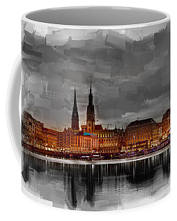 Hamburg Germany Skyline 01 Coffee Mug