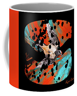 Coffee Mug featuring the digital art Hamburger For The Poor Artist by Karo Evans