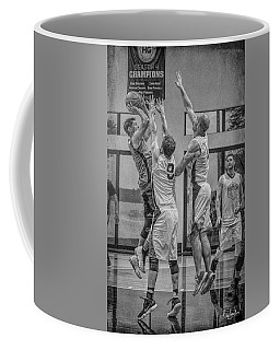 Coffee Mug featuring the photograph Hamlin Elevating Over Defenders by Ronald Santini
