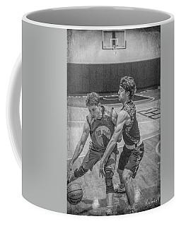 Coffee Mug featuring the photograph Hamlin Holding Off Blaney by Ronald Santini