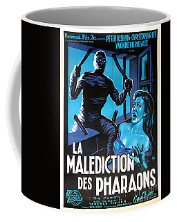Hammer Movie Poster The Mummy La Malediction Des Pharaons Coffee Mug