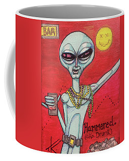 Hammered Alien Coffee Mug