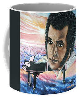 Coffee Mug featuring the painting Hampton Hawes -jazz Pianist by Sigrid Tune
